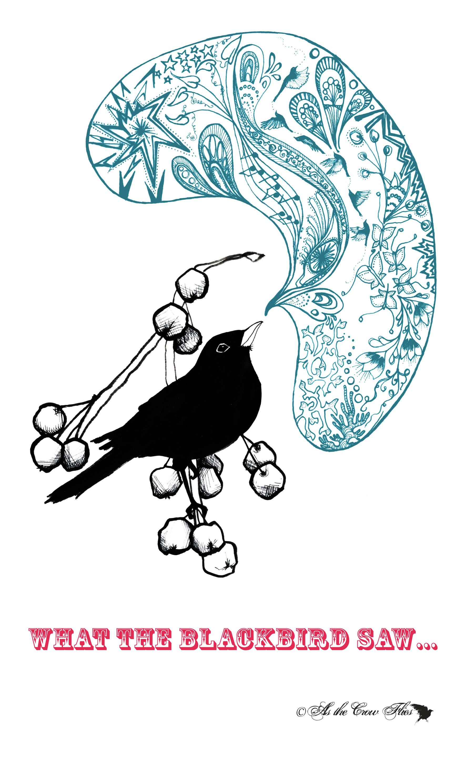 blackbird teatowel text