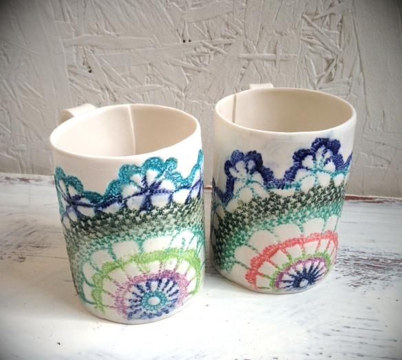 doily mugs