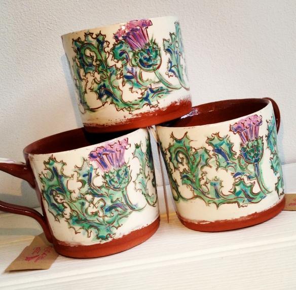 thistle mug trio